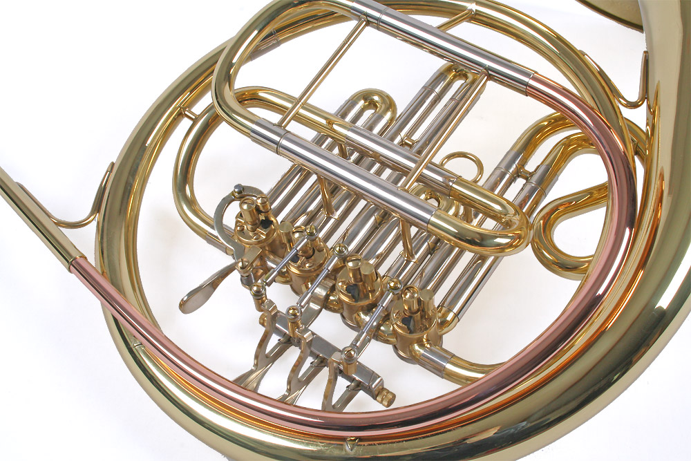 bb french horn a stuffing valve with case and mouthpiece ebay. Black Bedroom Furniture Sets. Home Design Ideas