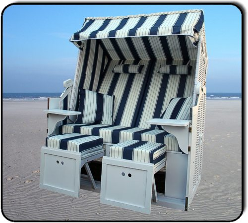 wellness luxus strandkorb usedom xxl weiss blau birke ebay. Black Bedroom Furniture Sets. Home Design Ideas