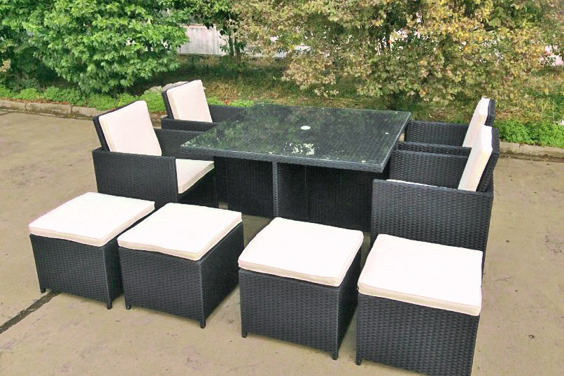 gartenm bel polyrattan cube kollektion ideen garten. Black Bedroom Furniture Sets. Home Design Ideas