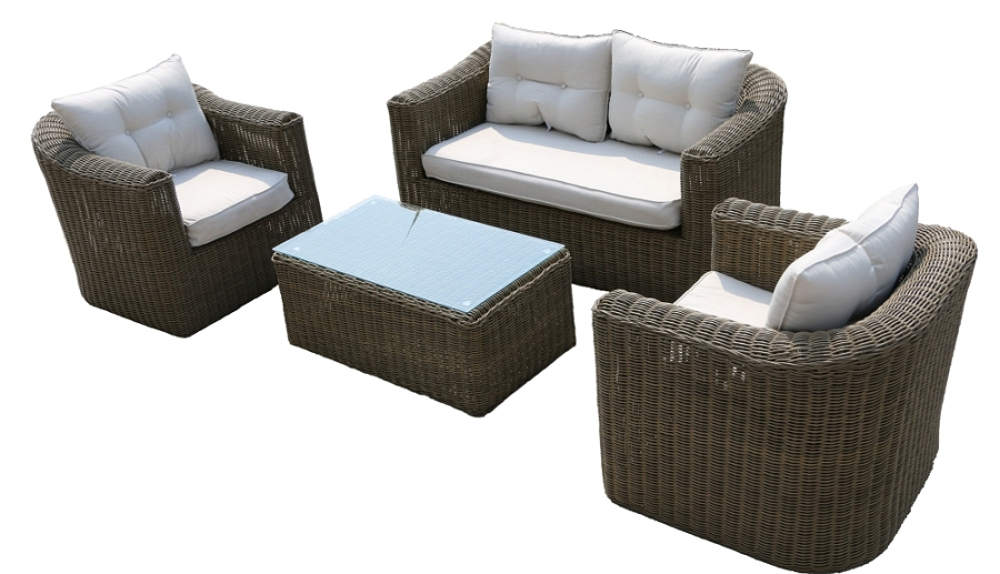 rund polyrattan gartenm bel poly rattan lounge sitzgruppe gartengarnitur bergen. Black Bedroom Furniture Sets. Home Design Ideas