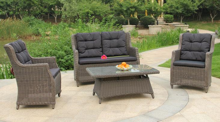 Gartenmobel Eukalyptusholz Gunstig :  Set, Gartenmöbel, Polyrattan, Sitzgruppe, Gartengarnitur , WIEN