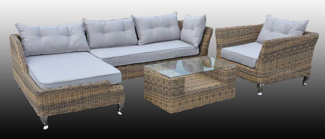 rund polyrattan gartenm bel poly rattan lounge sitzgruppe gartengarnitur milano ebay. Black Bedroom Furniture Sets. Home Design Ideas