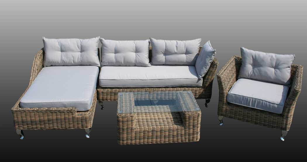 rund polyrattan gartenm bel poly rattan lounge sitzgruppe gartengarnitur milano ebay. Black Bedroom Furniture Sets. Home Design Ideas
