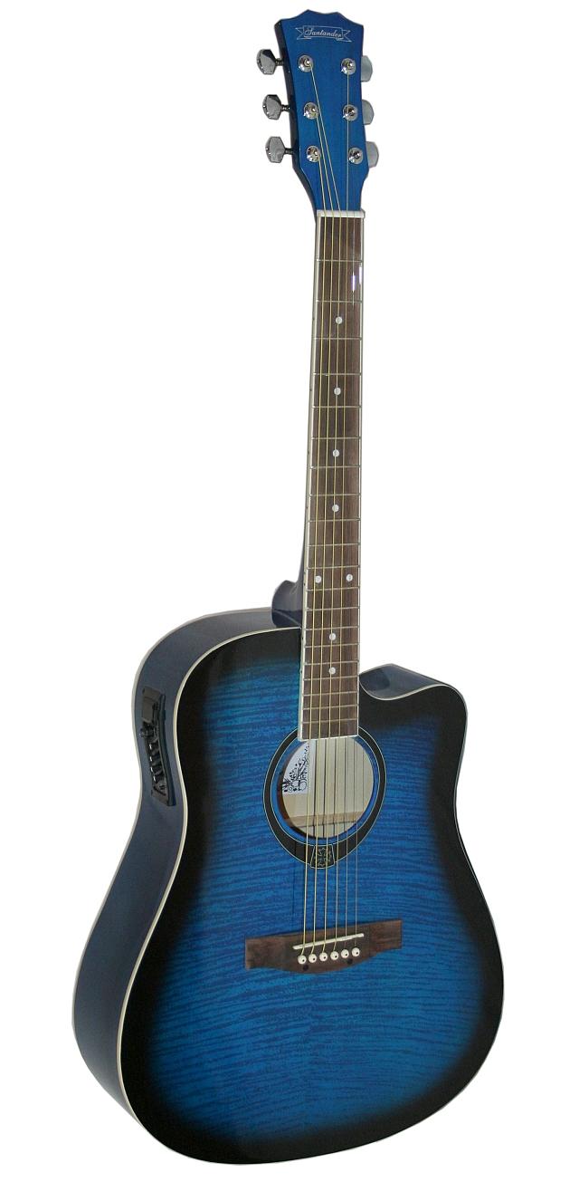 santander akustik western gitarre cutaway tonabnehmer dreadnought farbwahl ebay. Black Bedroom Furniture Sets. Home Design Ideas
