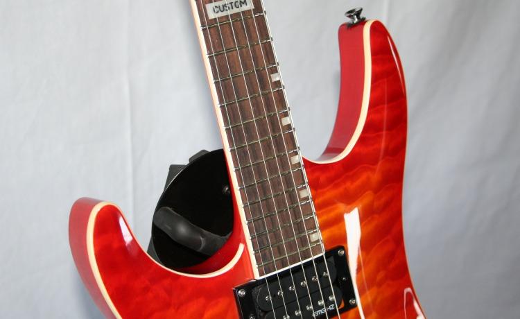 edel e gitarre emg hz pus trans orange quilted maple grover linksh nder lefthand ebay. Black Bedroom Furniture Sets. Home Design Ideas