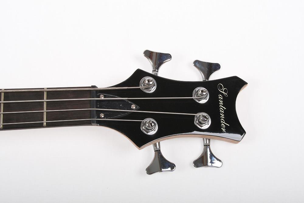Santander 5-Saiter Metal E-Bassgitarre H//S PU/'s Tasche Kabel Gurt blau-metallic
