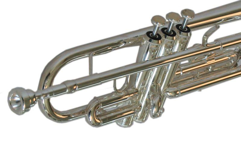 mit Koffer B-Ware Edelstahl Ventile versilbert Karl Glaser Bb Trompete