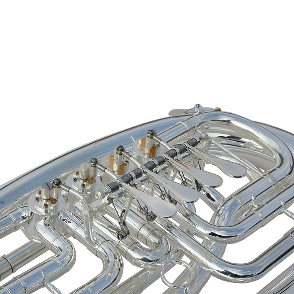 Bb Kaiserbariton Bariton Silber Euphonium Drehventile Band & Orchester Blasinstrumente
