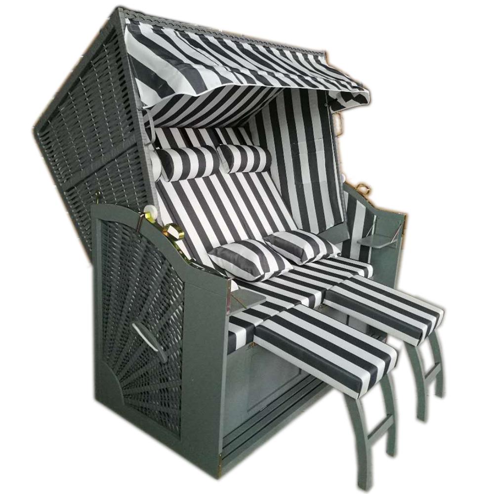 xxl 155cm wellness strandkorb volllieger strandkorbh lle gartenliege binz 222 ebay. Black Bedroom Furniture Sets. Home Design Ideas