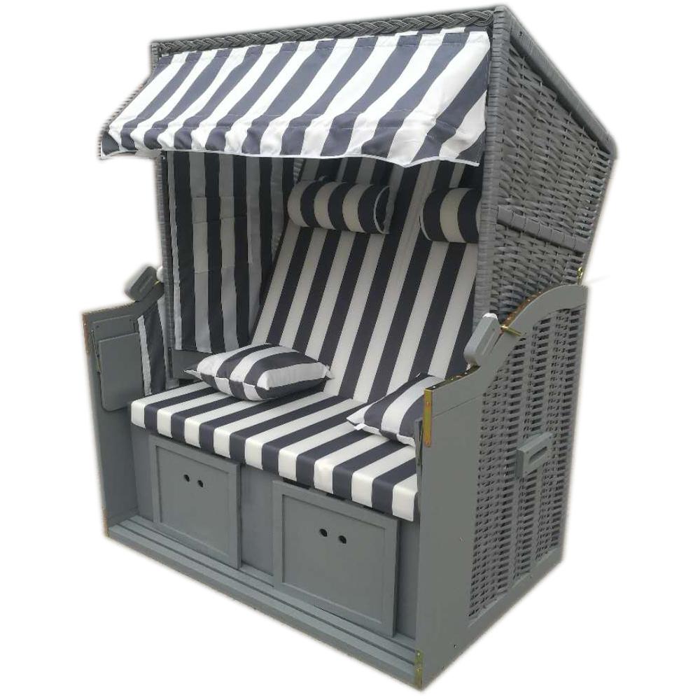 wellness strandk rbe rattan strandkorb liegekorb halblieger binz 224 inkl h lle ebay. Black Bedroom Furniture Sets. Home Design Ideas