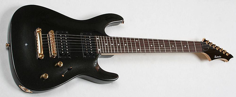 7 Saiter Heavy St-rat E-Gitarre, Humbucker, Metal Black ...